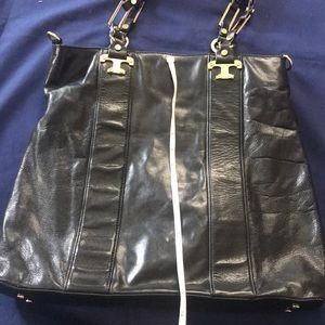 Tory Burch black bag tote leather
